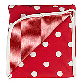 Pigeon Organics Reversible Blanket, Spotty (Red)