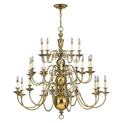 Burnished Brass 25lt Chandelier - 25 x 40W E14