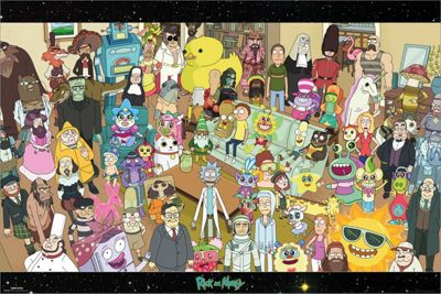 Rick and Morty Cast Poster 61 x 91.5cm