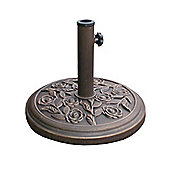 Kingfisher PBASE 9 Cast Iron Effect Parasol Base - Bronze