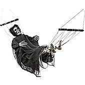 Skeleton in Hammock Halloween Party Prop