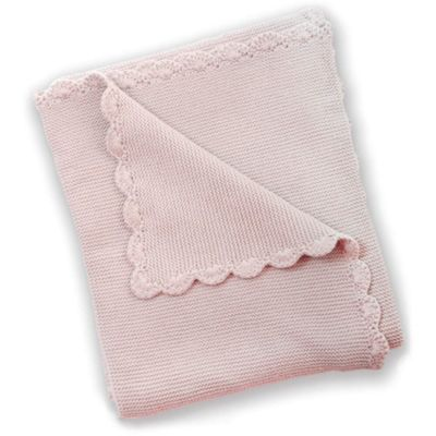 Silver Cloud Baby Boutique Garter Stitch Blanket (Dusty Pink)