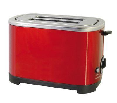 Lloytron 2 Slice Toaster in Red Steel