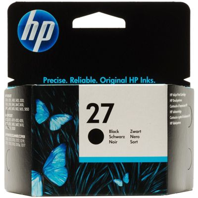 HP 27 Black Inkjet Print Cartridge 10ml (Yield 280 Pages)