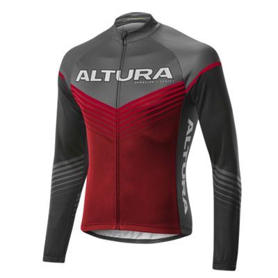 Altura Sportive Chevron LS Jersey Burgundy/Red Size: L