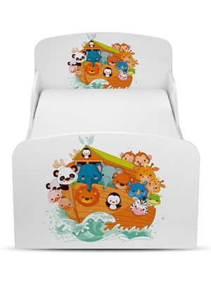 PriceRightHome Noah's Ark Animals Toddler Bed & Deluxe Foam Mattress