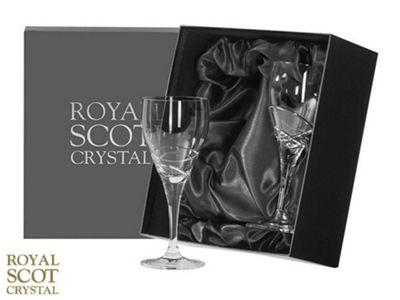 Royal Scot Crystal Skye Set of 2 Large Crystal Wine Glasses 205mm