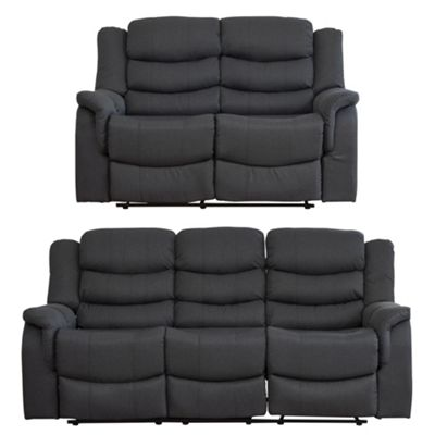 Sofa Collection Madison Fabric 3+2 Seat Sofa - Dark Grey