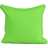Homescapes Cotton Plain Green Scatter Cushion, 45 x 45 cm