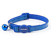 Ancol Acticat Gloss Reflective Cat Collar - Blue