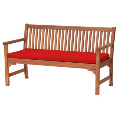 Red 3 Seater Garden Bench / Swing Seat Cushion Pad Outdoor