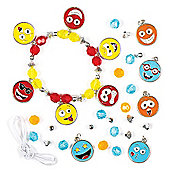 Funny Face Charm Bracelet Kits Creative Craft Set for Children to Create Wear and Offer as a Gift (Pack of 3)