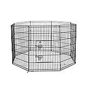 Confidence Pet Metal Indoor Foldable Dog Playpen Puppy Guinea Pig Exercise L