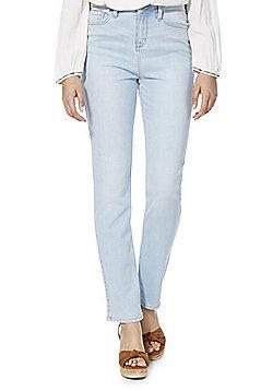 F&F Authentic Mid Rise Slim Leg Jeans - Light wash