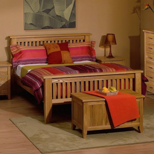 Kelburn Furniture Carlton High Foot End Bed Frame - Double