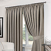Dreamscene Basket Weave Eyelet Curtains Silver - Silver