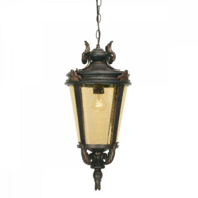 Weathered Bronze Chain Lantern Large - 1 x 100W E27