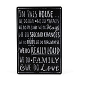 This House Chalkboard Style Metal Wall Sign