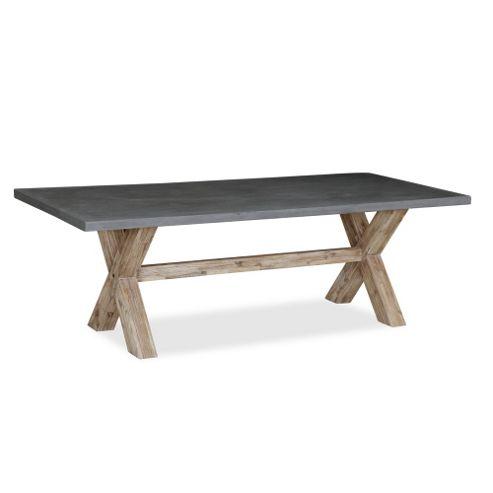 Rock Concrete 190cm Dining Table - Concrete