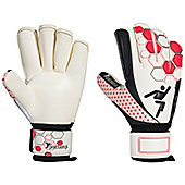 Precision Football Soccer Matrix Contact Rollfinger Goalkeeper Gloves - White