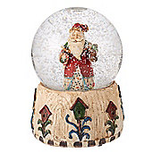 Musical Santa Snow Globe With Lantern
