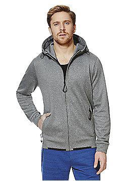 F&F Marl Knit Hoodie - Grey