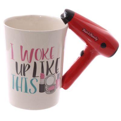 Puckator Girl Tools Hair Dryer Woke Up Like This Mug