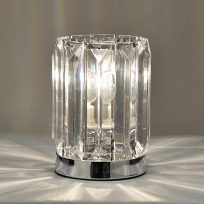 Buy Modern Acrylic Crystal Touch Table Lamp Chrome