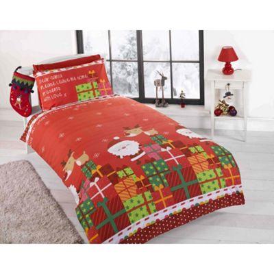 Rapport Dear Santa Christmas Duvet Cover Set - Small Single -Toddler