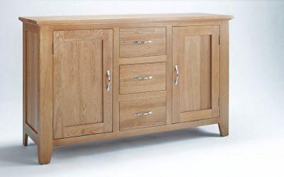 Ametis Sherwood Oak Three Drawer Sideboard
