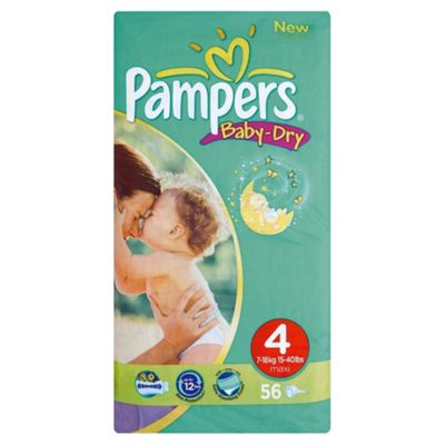 Pampers Baby Dry Economy Pack Maxi 52 (Size 4)