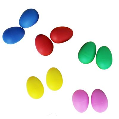 Egg Shakers Mixed Colours - Pack of 10