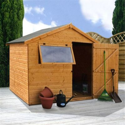 plain garden sheds tesco apex shed with double doors and decor - Garden Sheds Mn