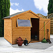 6 x 8 Sutton Tongue And Groove Reverse Apex Shed Wooden Garden Shed 6ft x 8ft (1.83m x 2.44m)