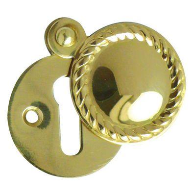 Jedo Polished Brass 32Mm - Georgian Covered Escutcheon