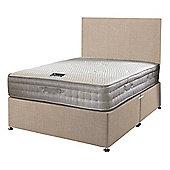 Happy Beds Bamboo Vitality 2000 Mattress Divan Bed Set Plain Headboard Cream