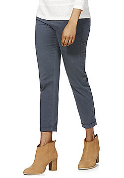 F&F Twill Cropped Trousers - Grey