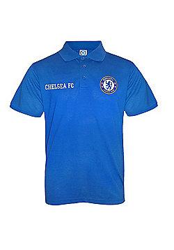 Chelsea FC Boys Polo Shirt - Blue