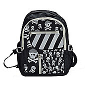 Kiddimoto Large Childs Backpack Skullz with padded shoulder straps