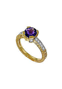 QP Jewellers Diamond & Amethyst Fantasy Ring in 14K Gold