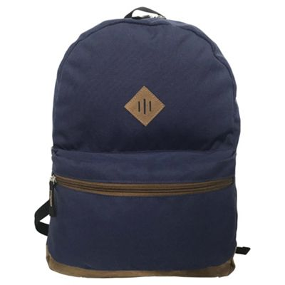 Tesco Bristol Navy/Tan Backpack