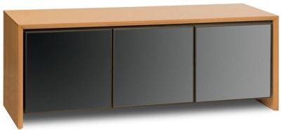 Salamander Cherry Triple TV Cabinet with Smoked Glass