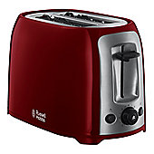 Russell Hobbs 23861 2 Slice Toaster with Reheat Function in Red