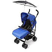 Your Baby - California Buggy/Pushchair-Blue Incl Blue Footmuff & Black Parasol.
