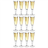 Rink Drink Plastic Champagne Outdoor Flutes - Pack Of 12