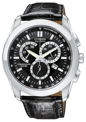 Citizen Gents Chronograph Eco-Drive Strap Watch AT1180-05E