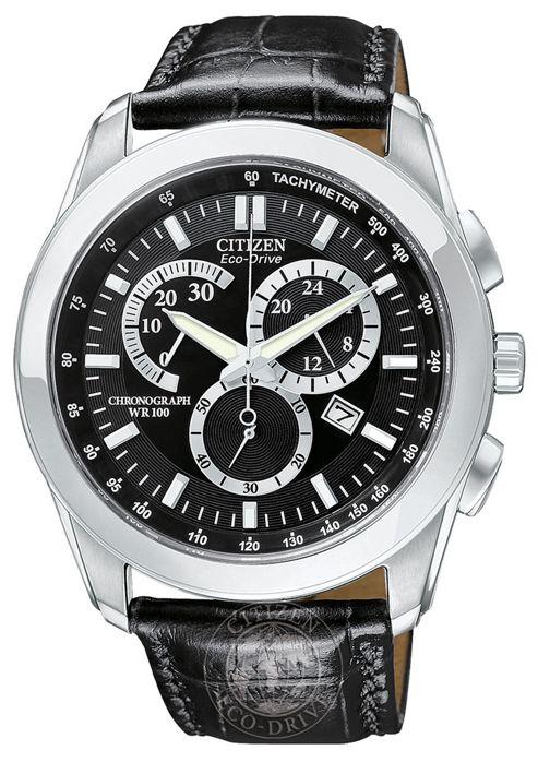 Citizen Gents Chronograph Eco-Drive Strap Watch AT1180-05E