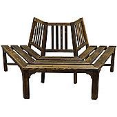 Semi Circle Tree Bench / Seat - Burntwood