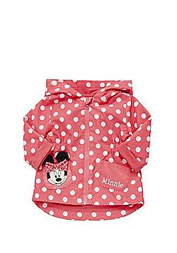 Disney Minnie Mouse Polka Dot Hooded Mac - Pink