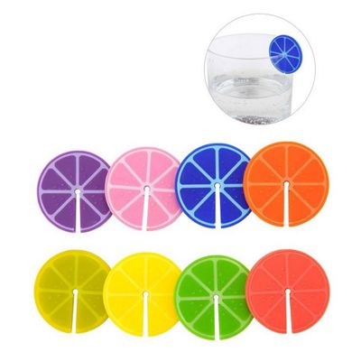 Set of 8 Fruit Slice Wine Glass Markers